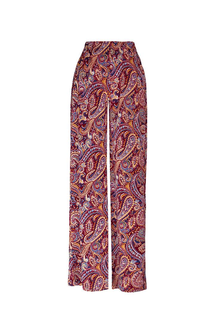 Pantalón basic étnico rojo