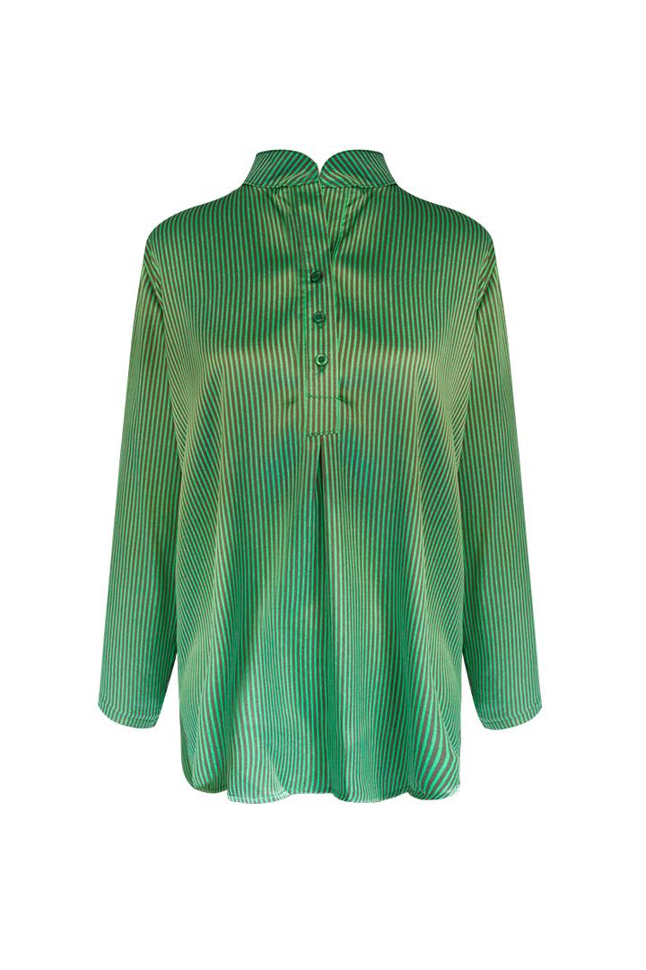 Camisa verde a rayas