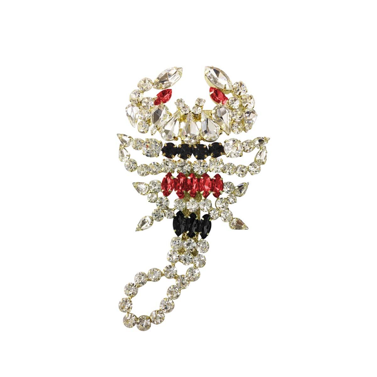 Teria Yabar - Broche negro y rojo