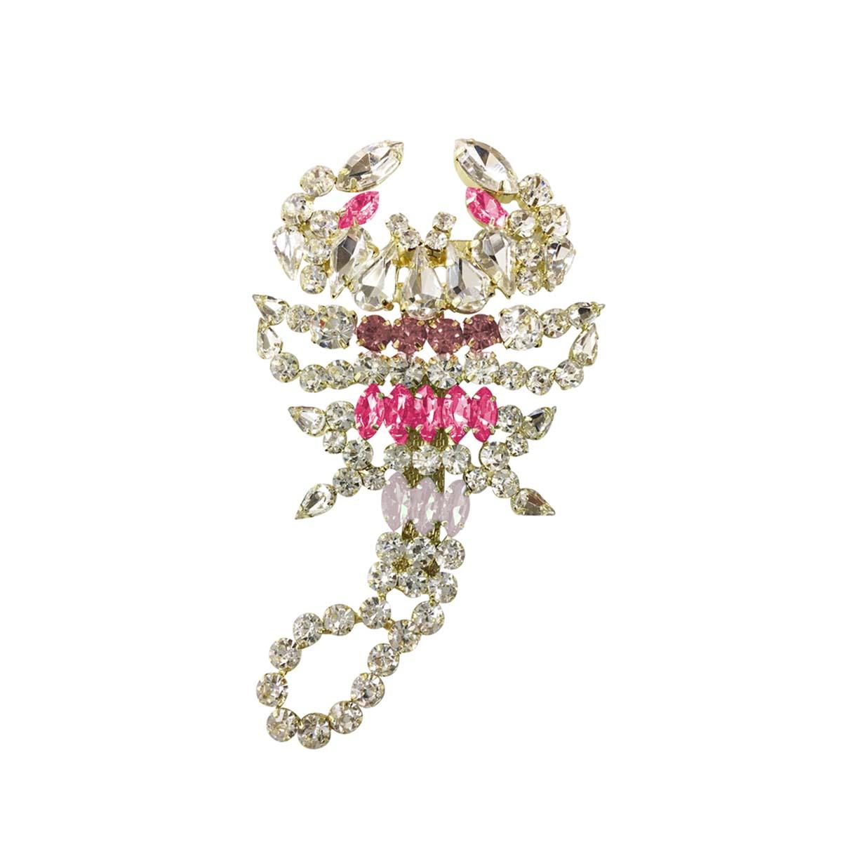 Teria Yabar - broche cristales en tonos rosas