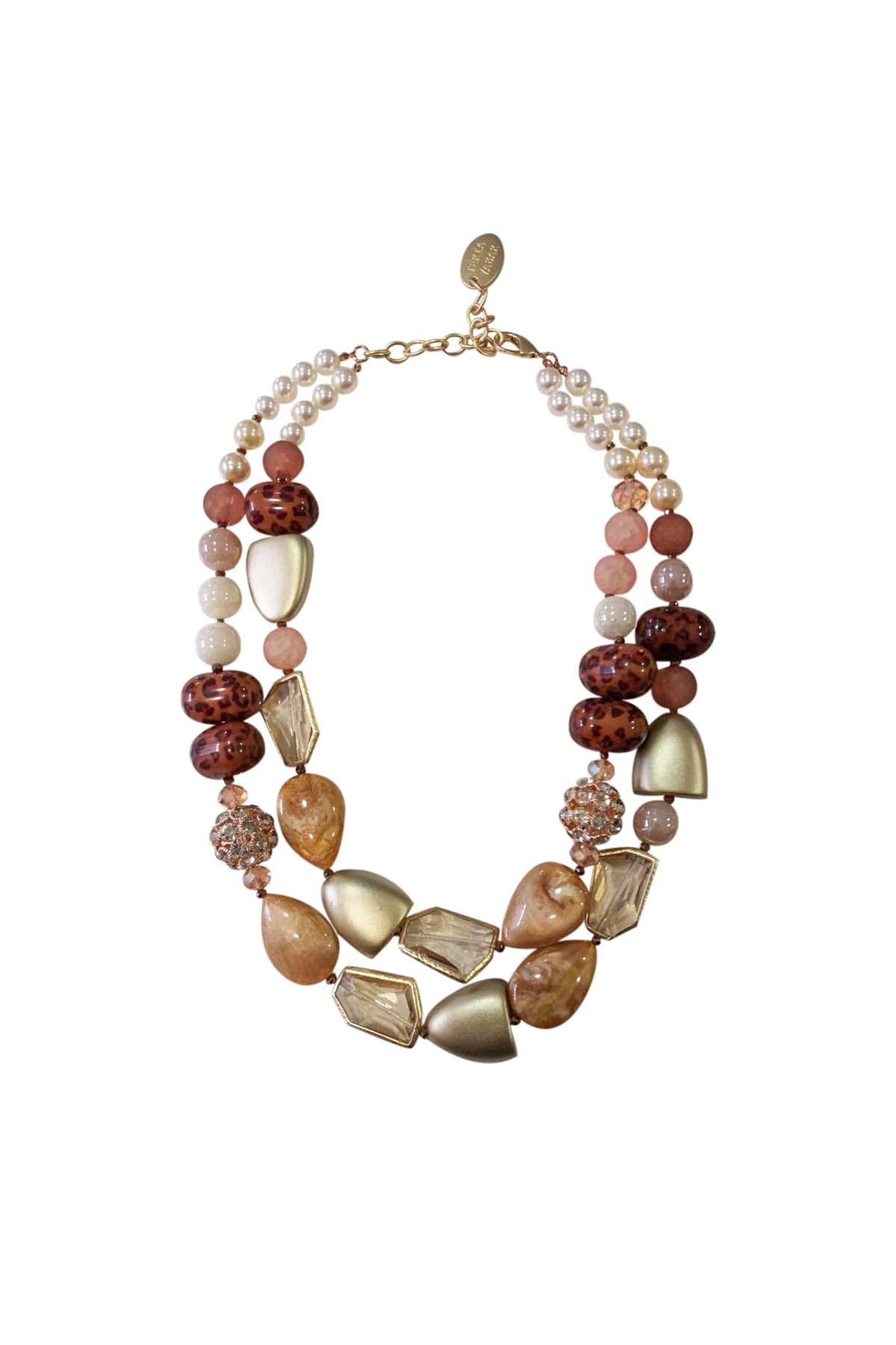 Teria Yabar - Collar tribal en tonos tierra