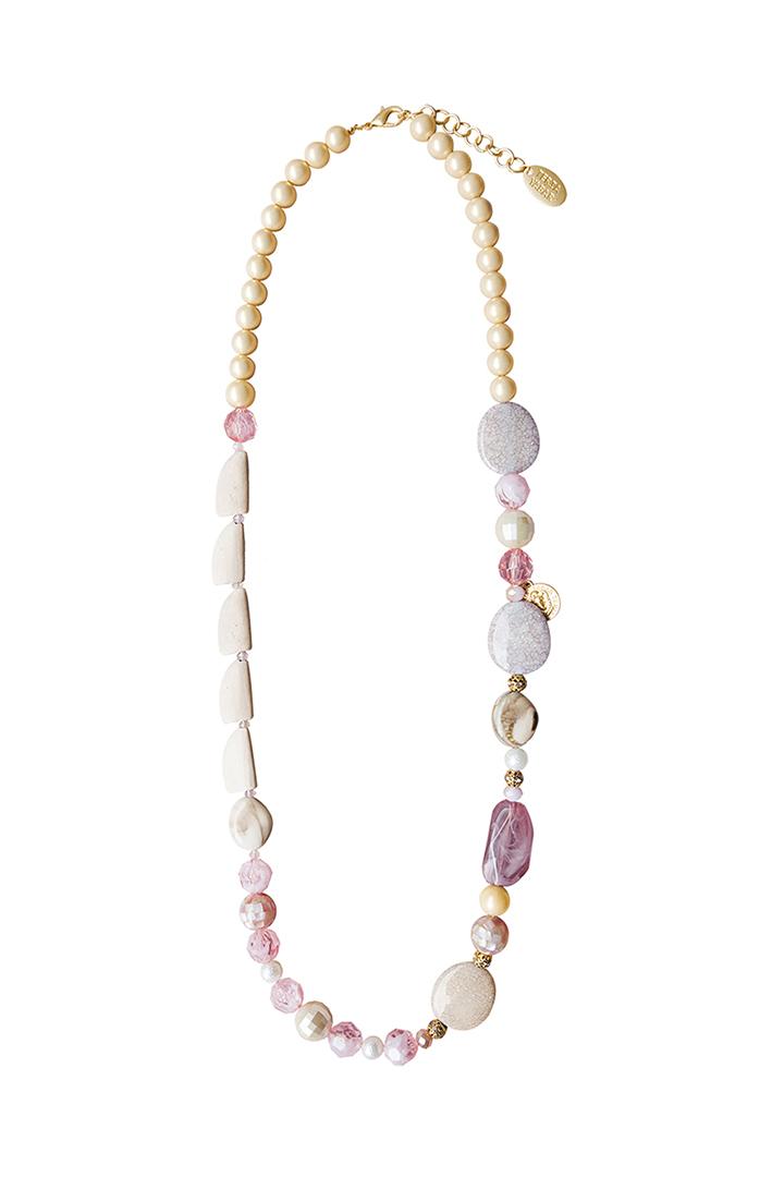 Teria Yabar - Collar largo con perlas de nácar