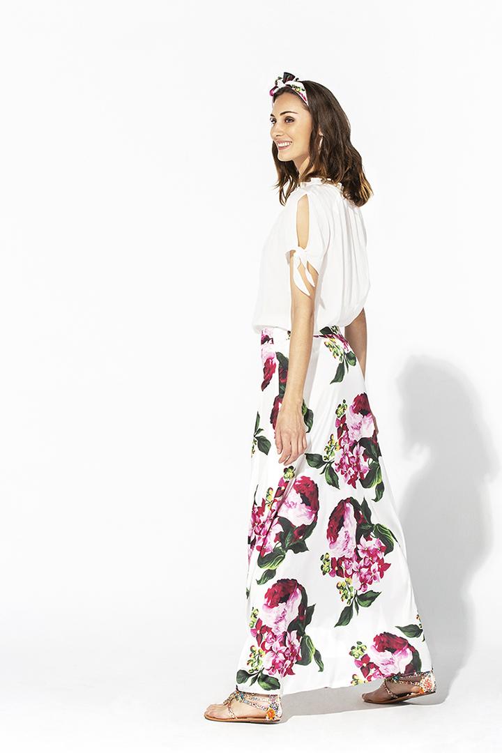 Camisa de algodón y lino