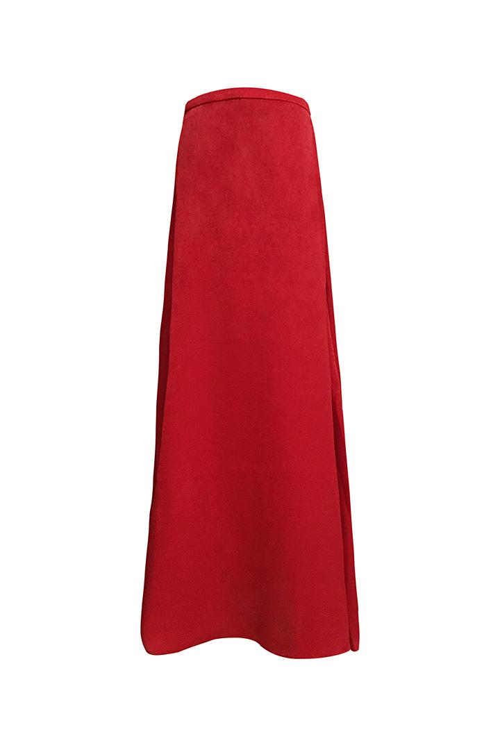 Teria Yabar - Falda larga roja