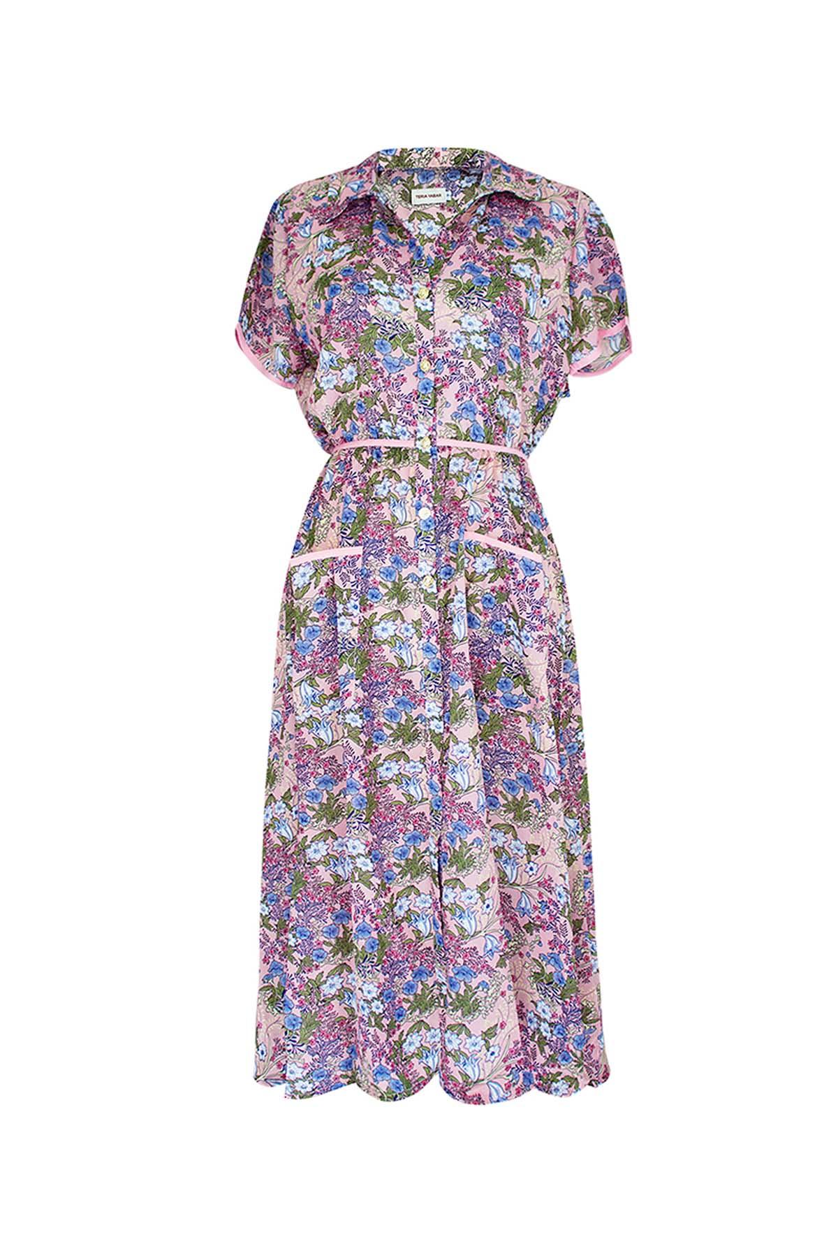 Teria Yabar - Vestido tea dress pink