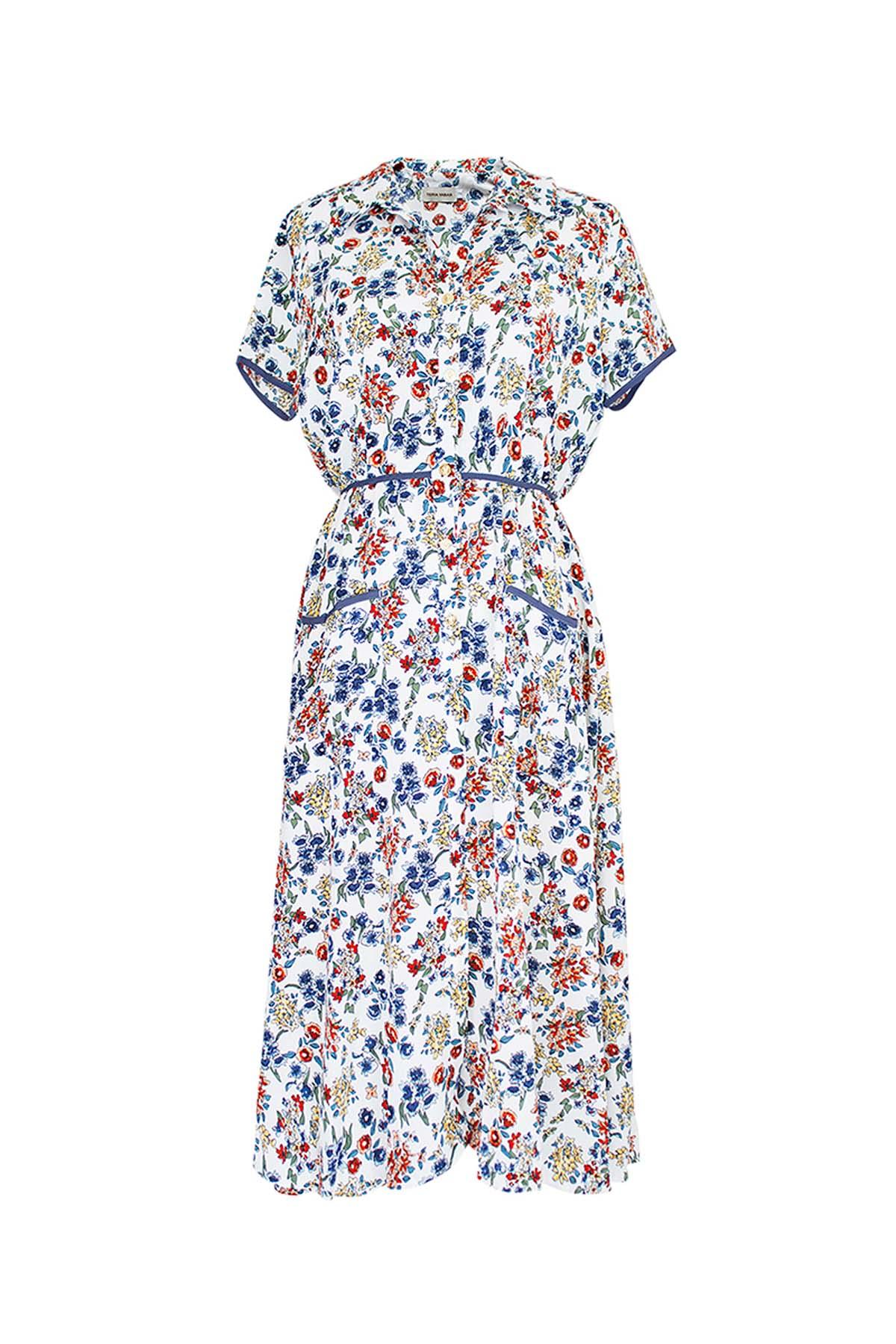 Teria Yabar - Vestido tea dress white