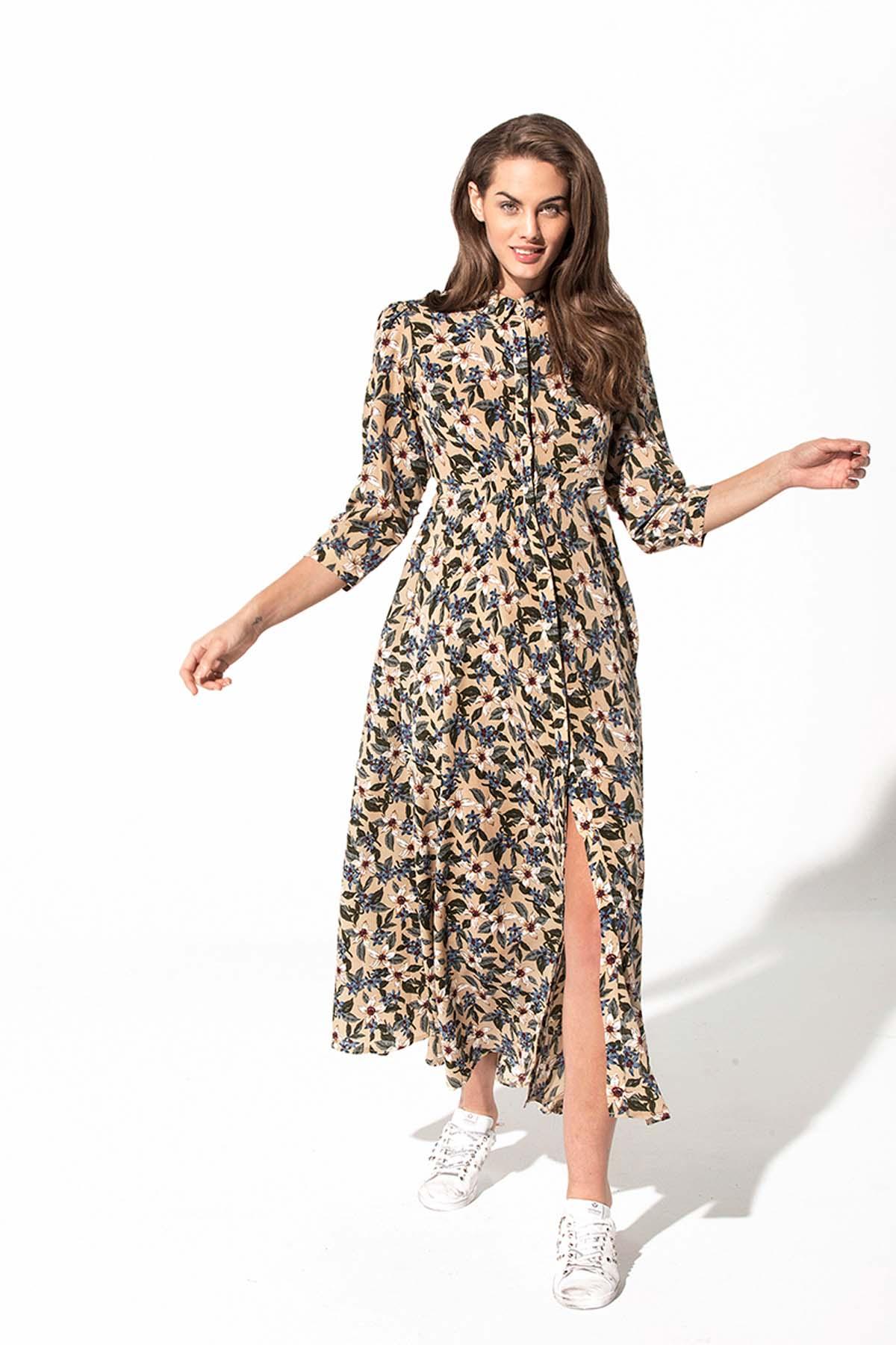 Vestido corte camisero Teria Yabar - Vestido corte camisero
