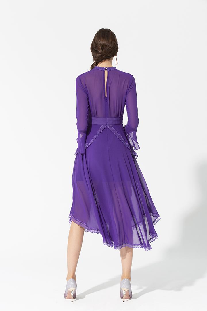 Vestido fluido doble falda