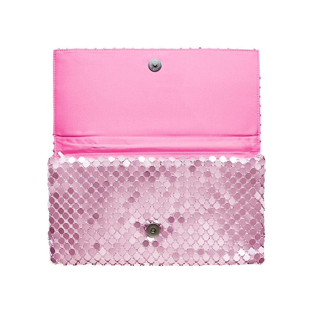 Cartera rosa brillante