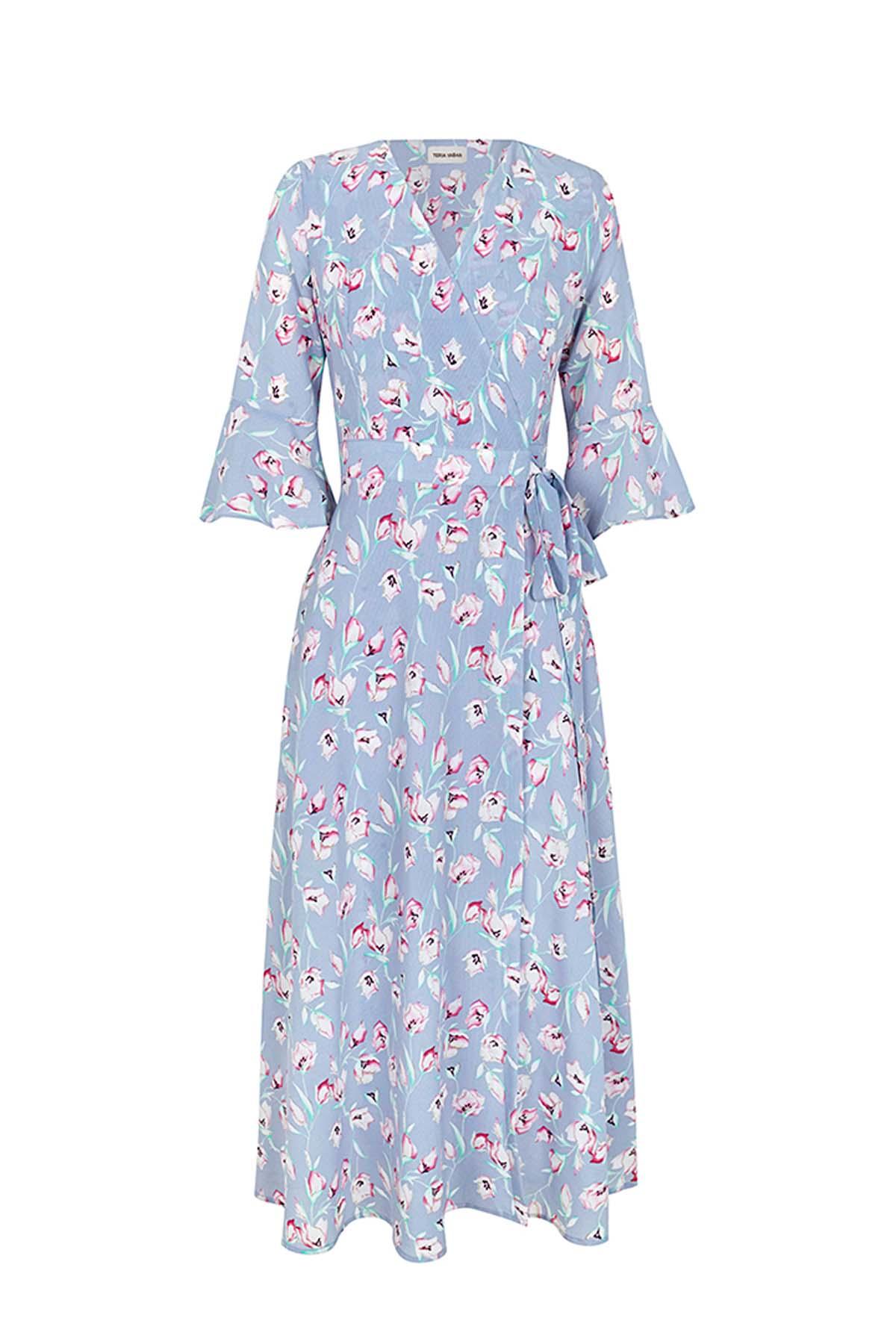 Teria Yabar - Vestido midi azul