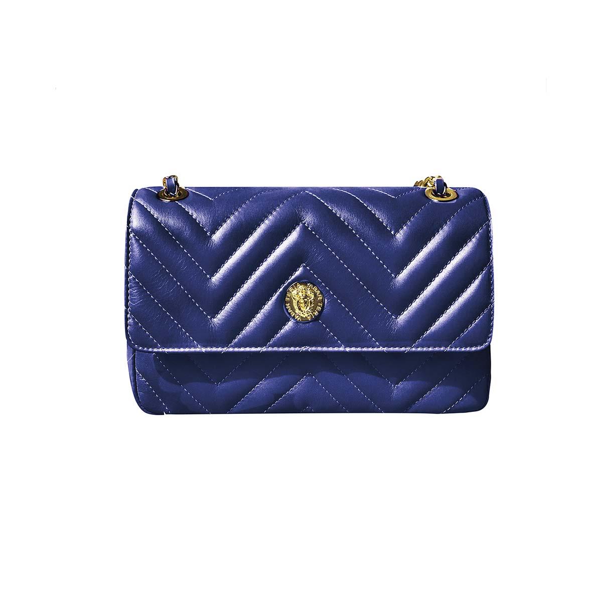 Teria Yabar - Bolso con solapa azul