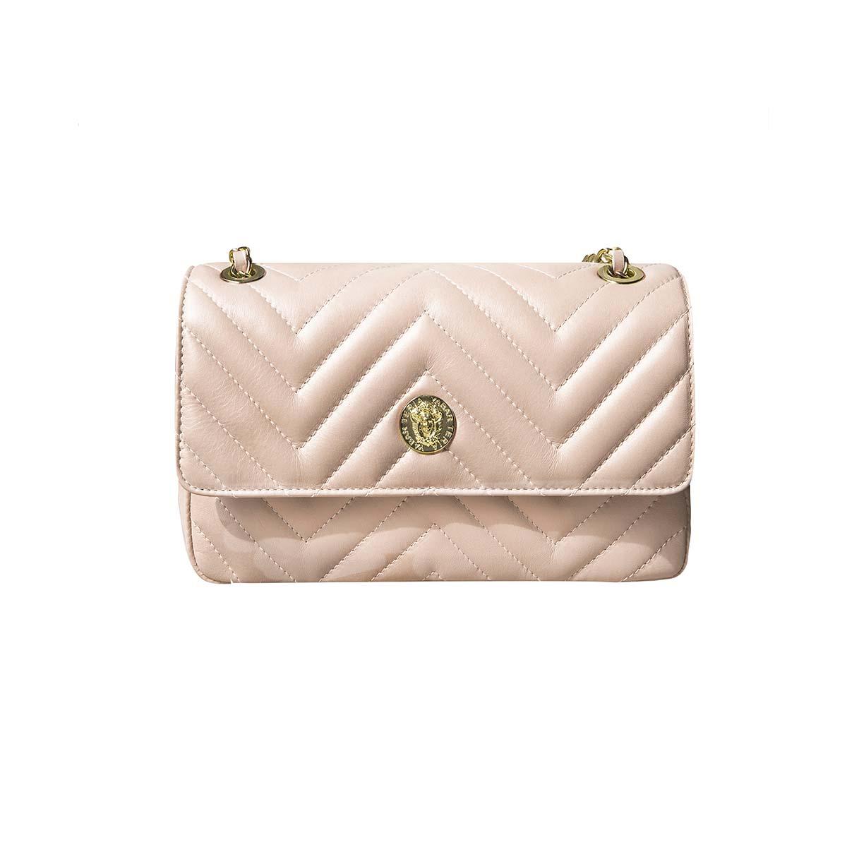 Teria Yabar - Bolso con solapa rosa