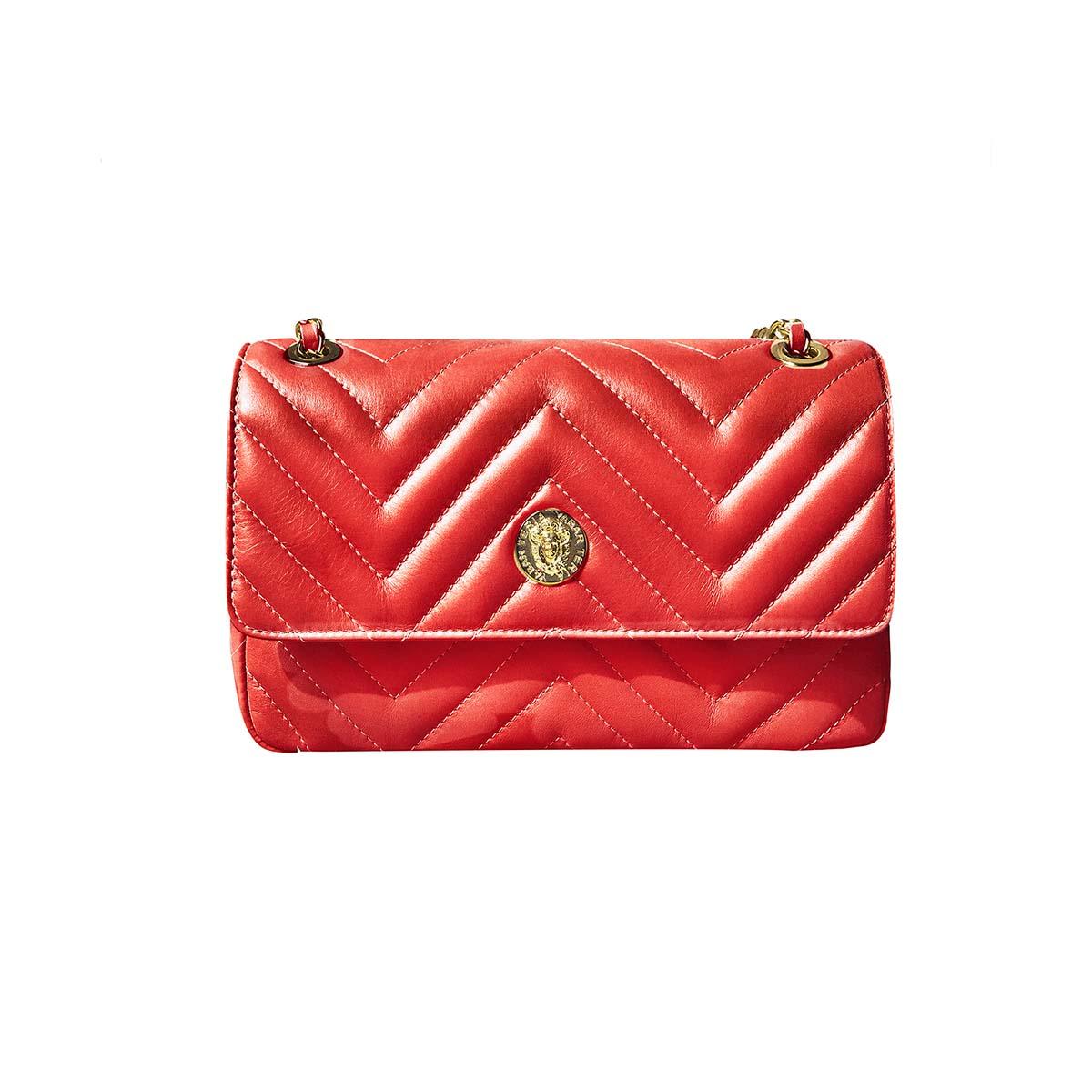 Teria Yabar - Bolso con solapa rojo