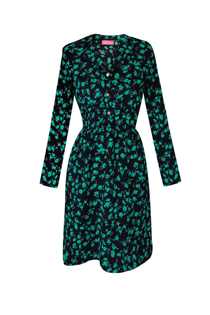 Vestido verde camisero Basic