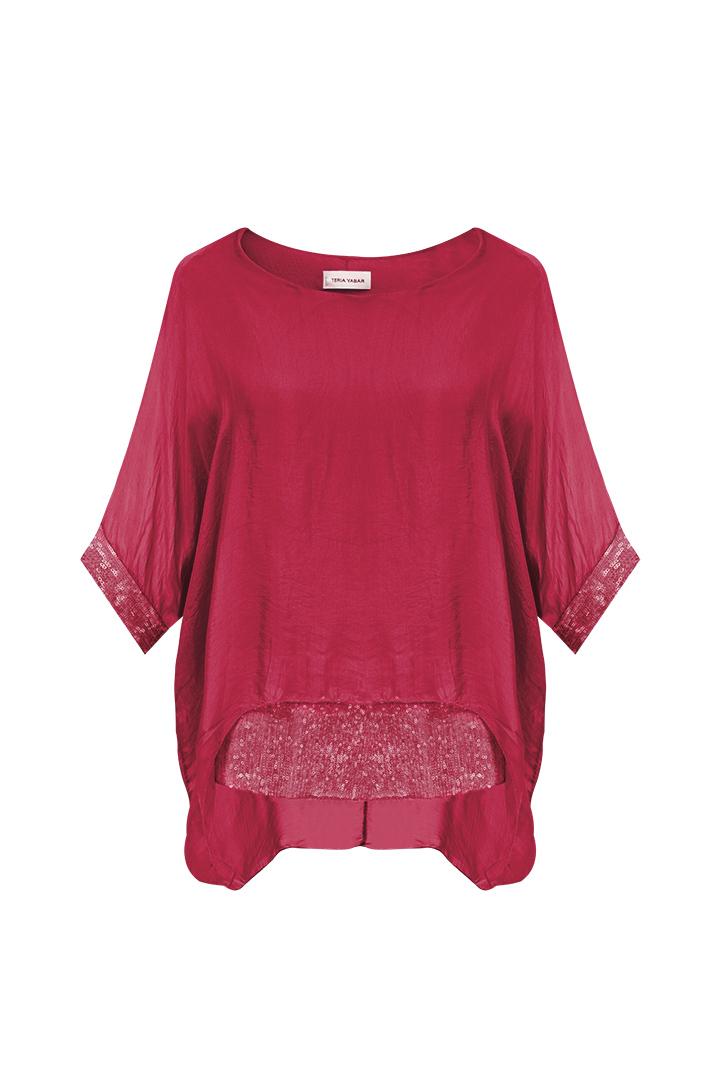 Blusa Alejandría Roja Teria Yabar