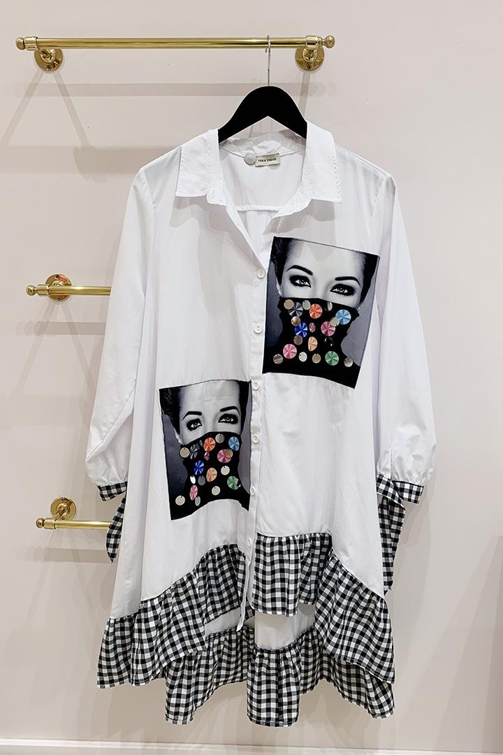 Camisa Vestido mírame Blanca Teria Yabar