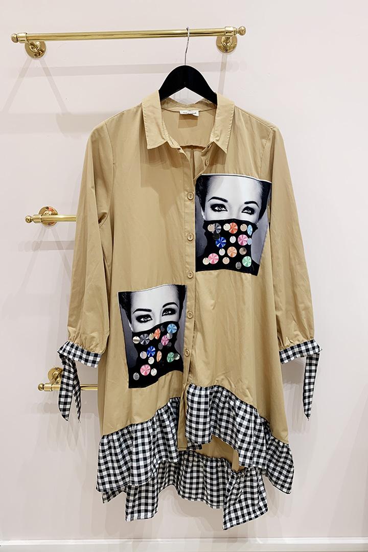 Camisa Vestido Mírame Teria Yabar