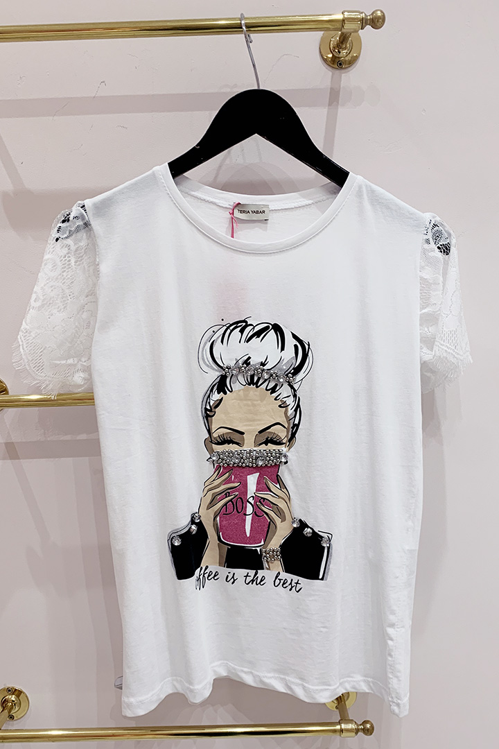 Camiseta Boss Blanca Teria Yabar