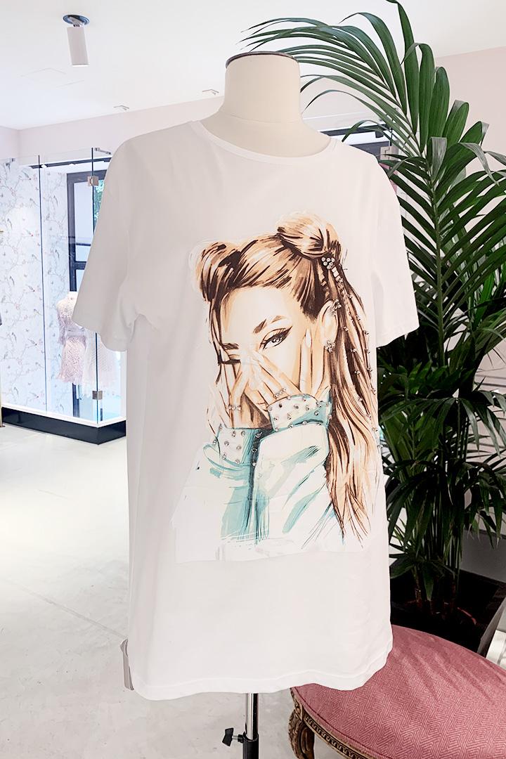 Camiseta Moñitos Blanca Teria Yabar