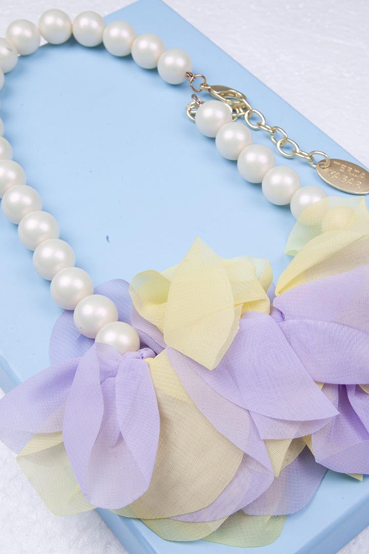 Collar Flor de Georgette Lila_0