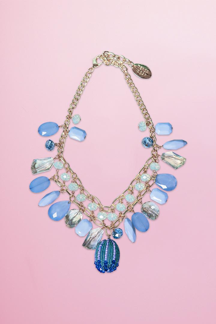Collar Murano Azul Teria Yabar