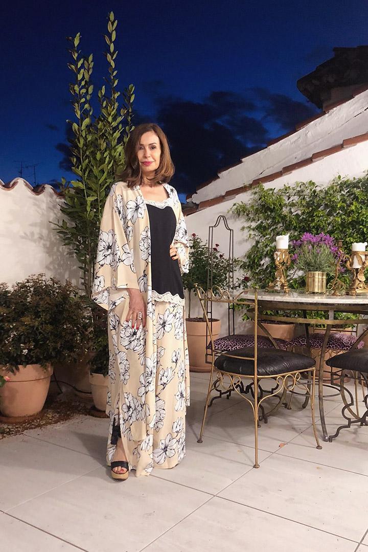 Conjunto Kimono Beige Teria Yabar