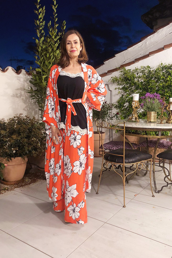 Conjunto Kimono Naranja Teria Yabar