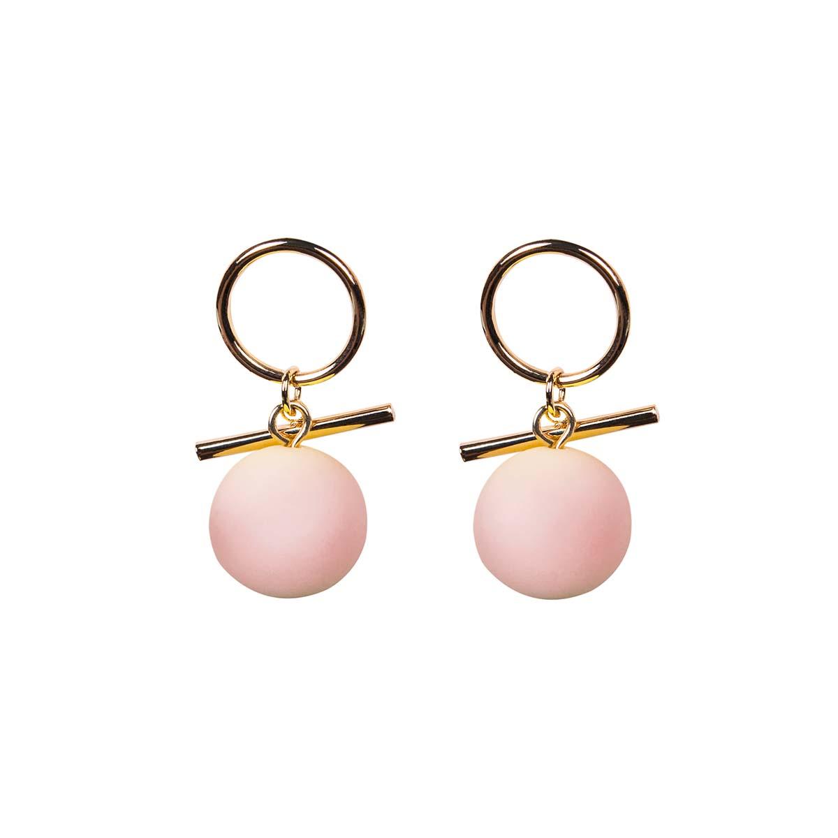 Teria Yabar - Pendientes de bolas rosas