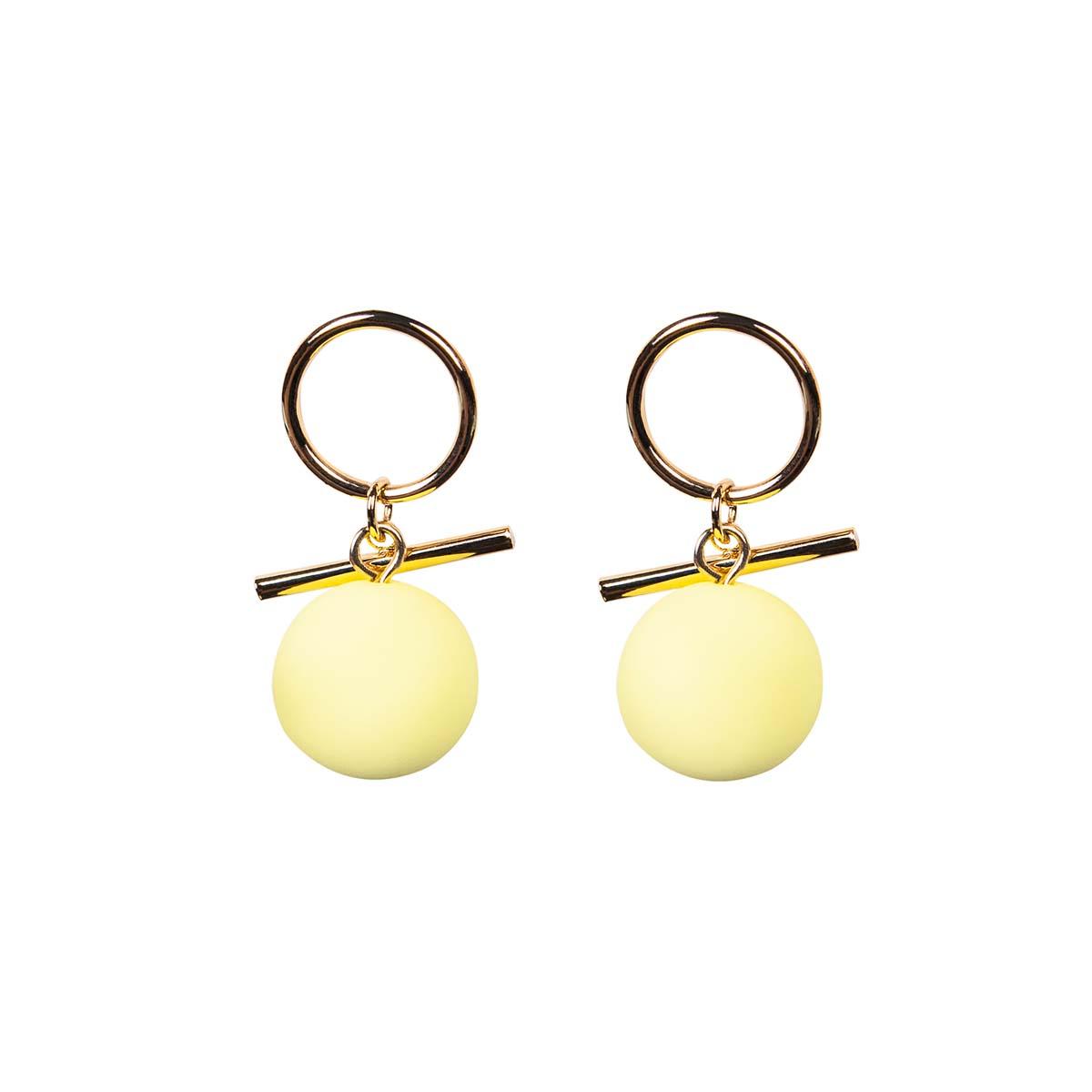 Teria Yabar - Pendientes de bolas amarillas