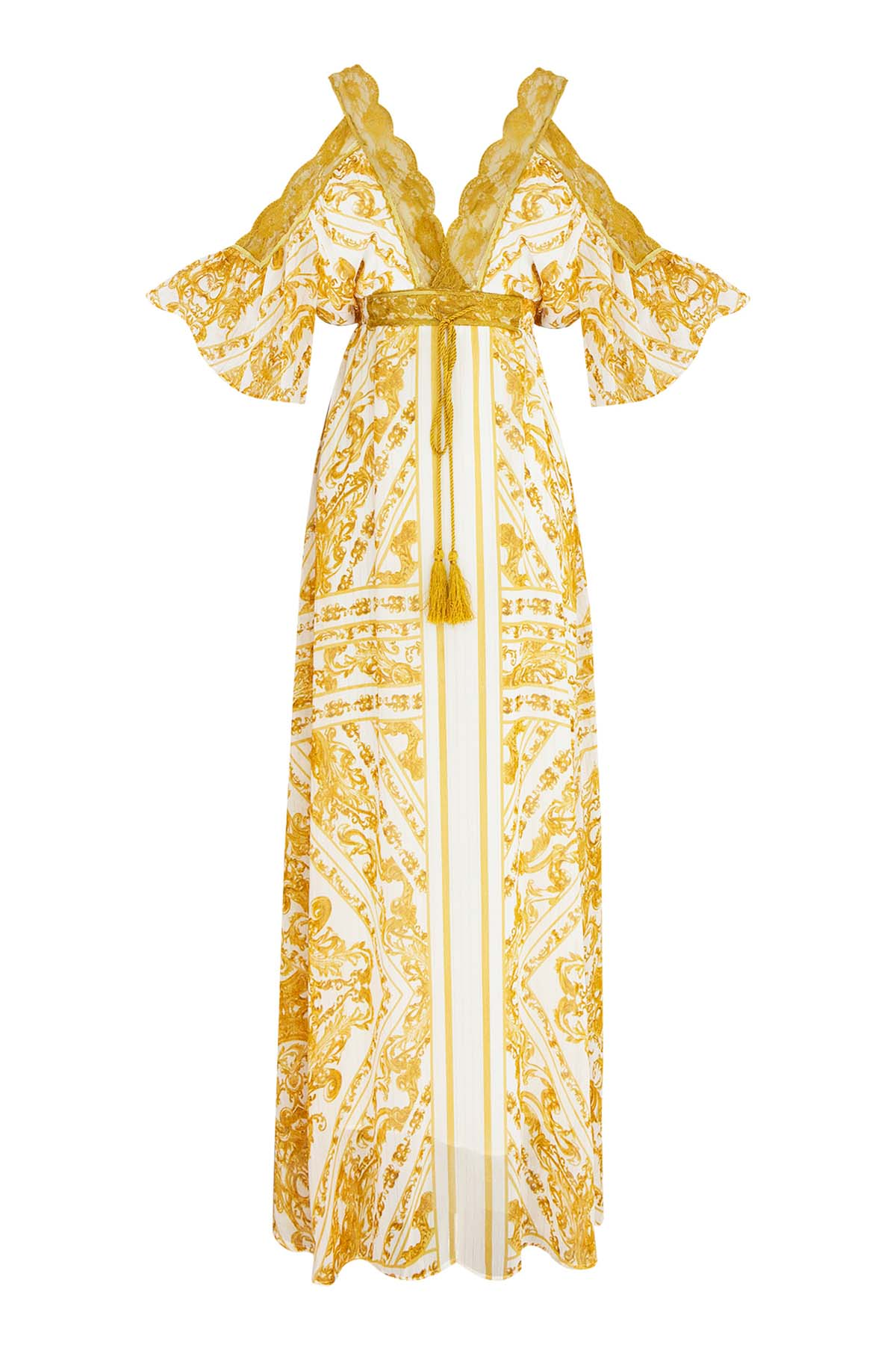 Teria Yabar - Vestido largo étnico
