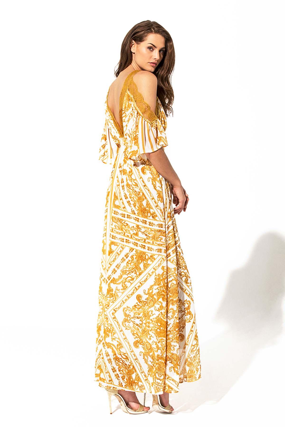 Vestido largo étnico