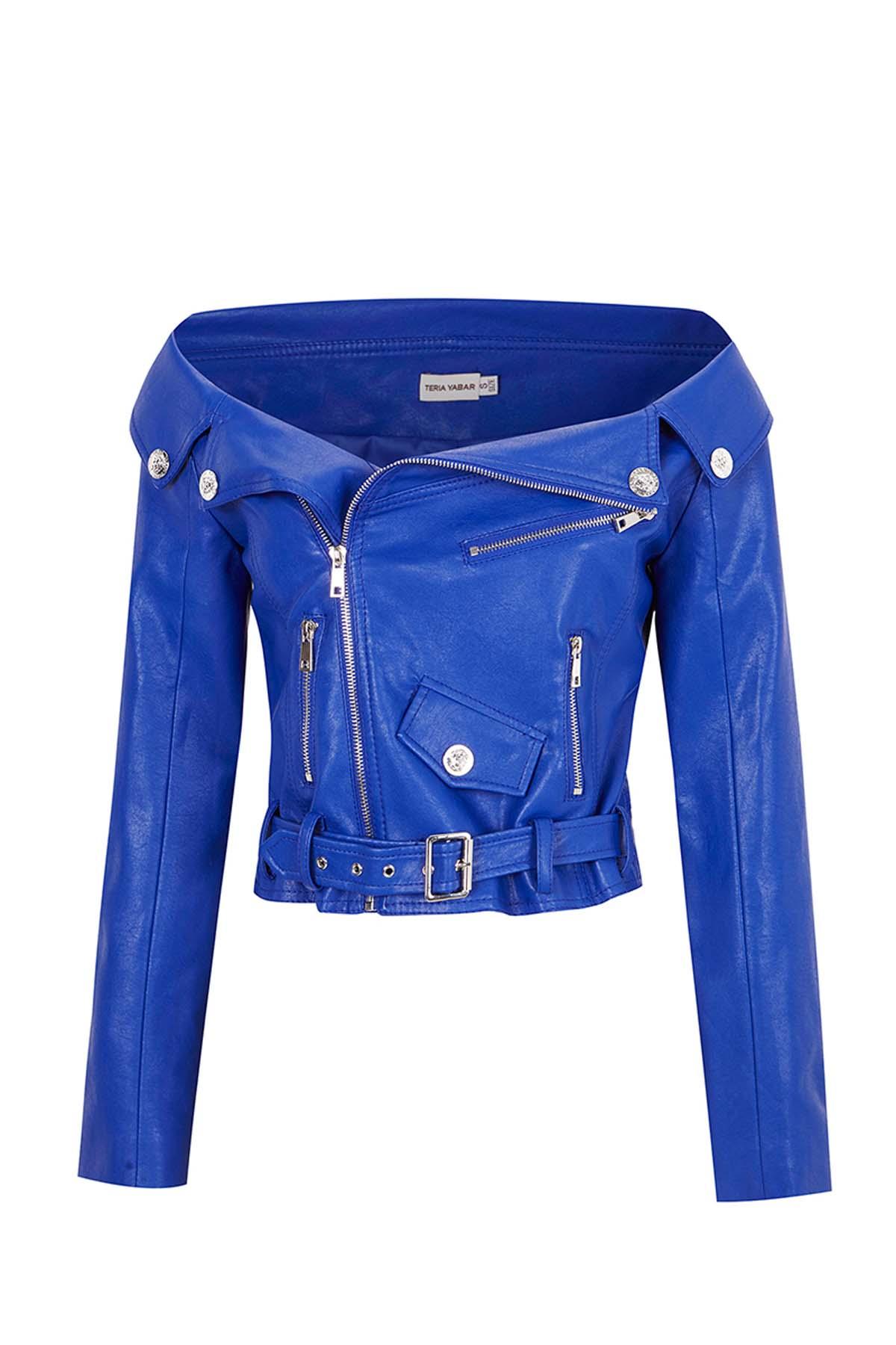 Teria Yabar - Biker azul