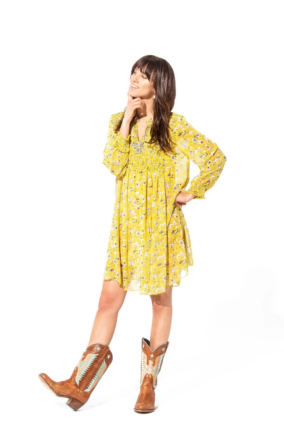 Teria Yabar - Vestido suelto y mini