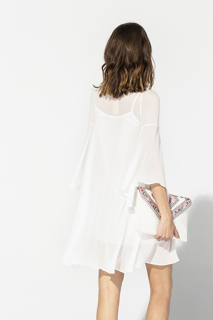 Vestido kaftán blanco