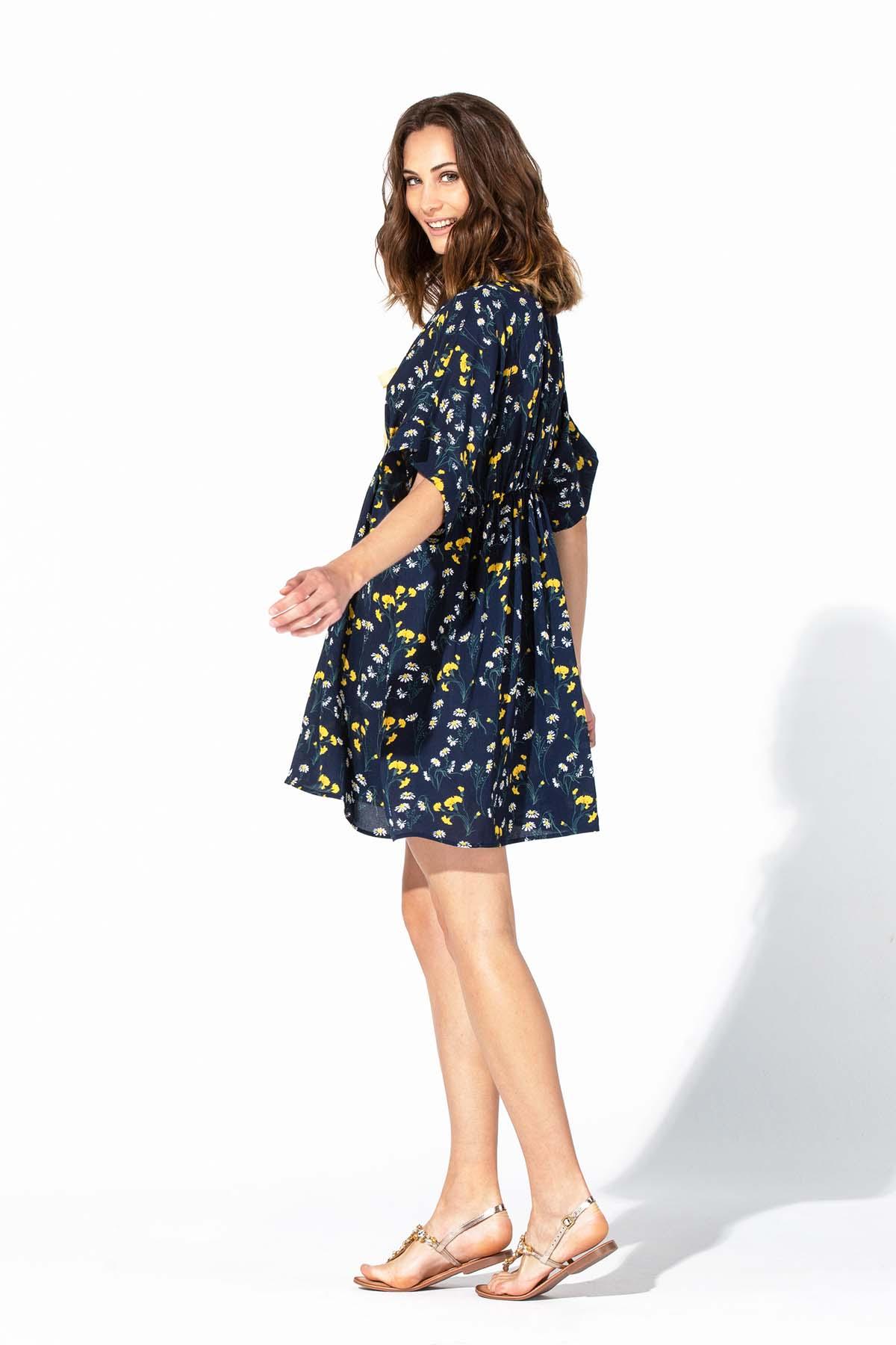 Vestido suelto azul Teria Yabar - Vestido suelto azul