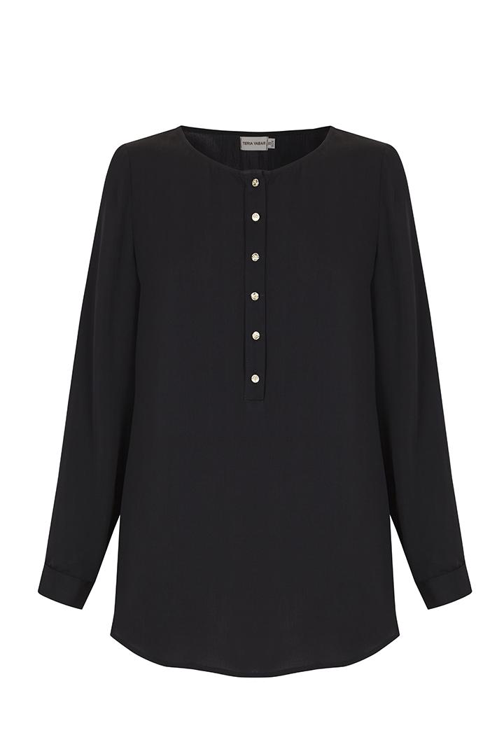 Teria Yabar - Blusa negra ligera