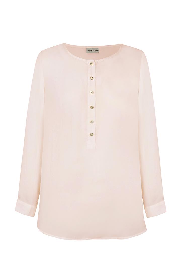 Teria Yabar - Blusa rosa ligera
