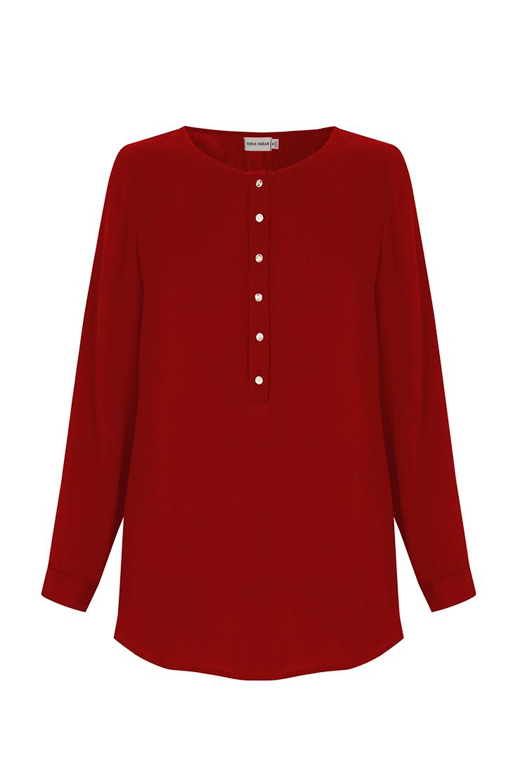 Teria Yabar - Blusa ligera roja