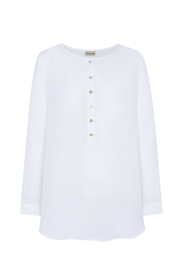 Teria Yabar - Blusa blanca ligera