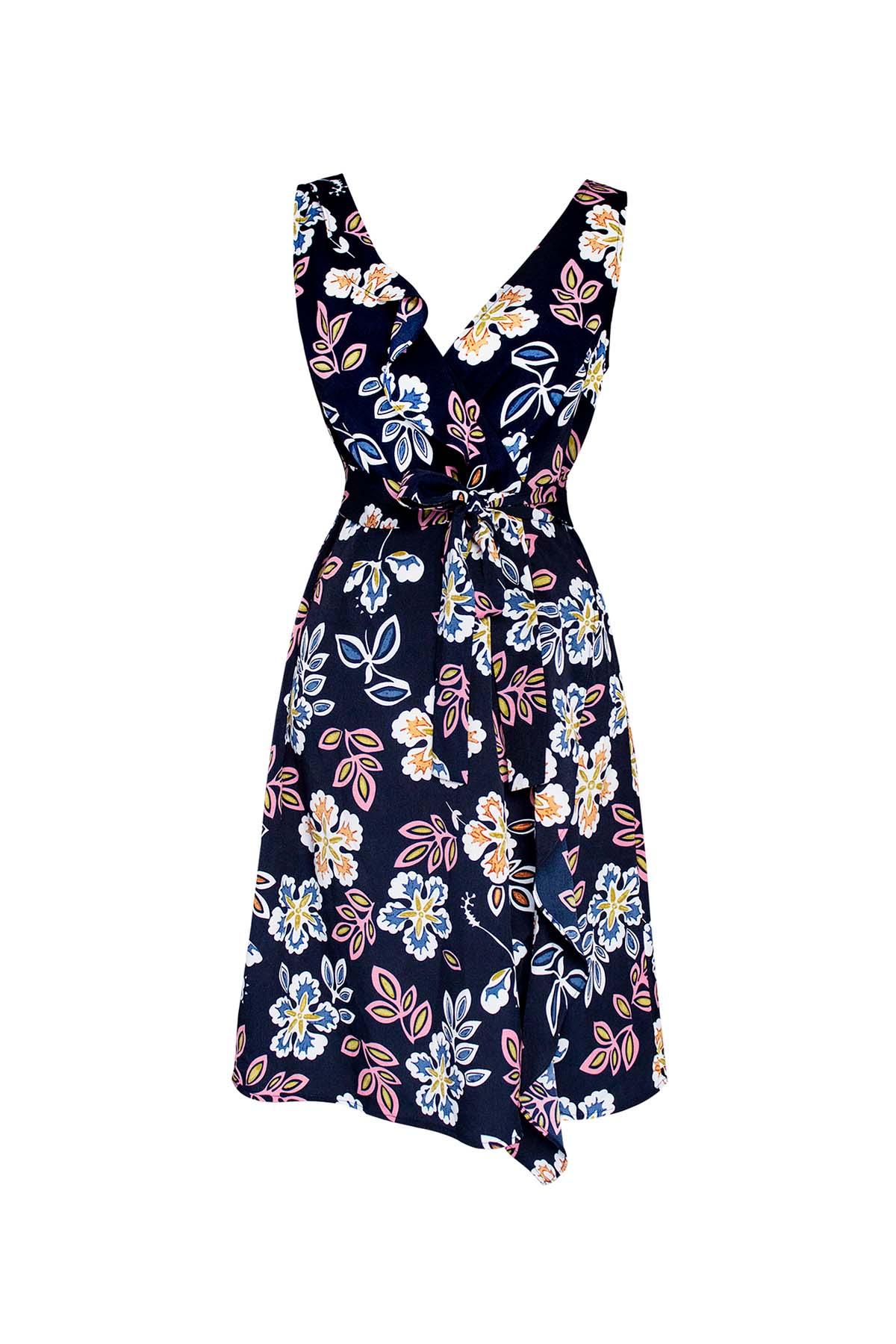 Teria Yabar - Vestido de flores sin mangas