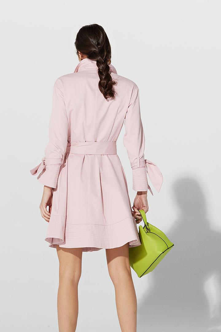 Gabardina vestido rosa