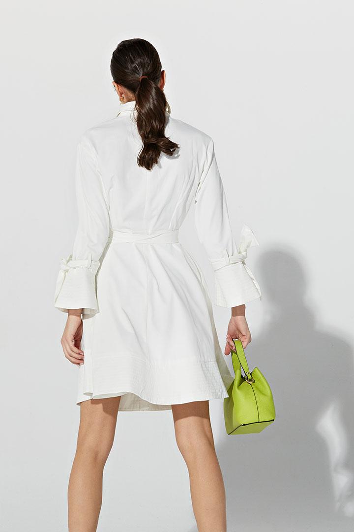 Gabardina vestido blanca