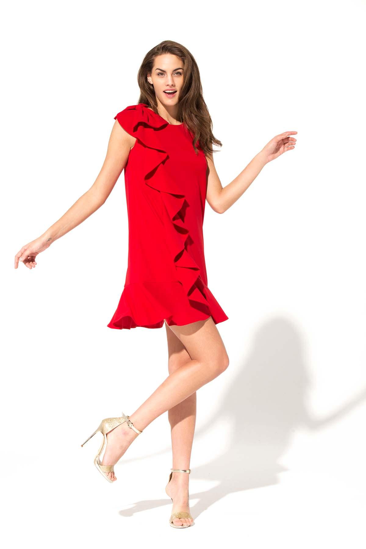Teria Yabar - Vestido ma petite robe rouge
