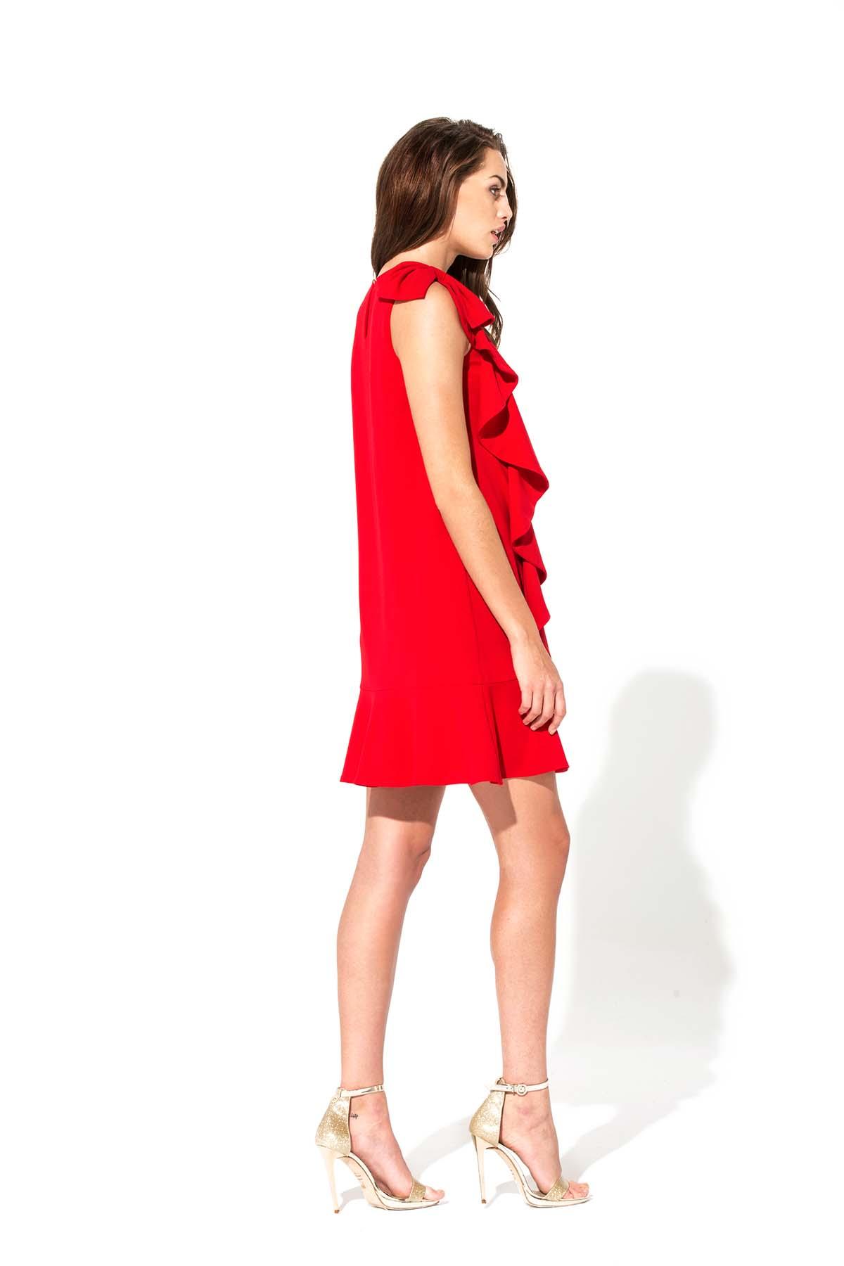 vestidos teria yabar ma petite robe rouge coleccion 2018. Black Bedroom Furniture Sets. Home Design Ideas