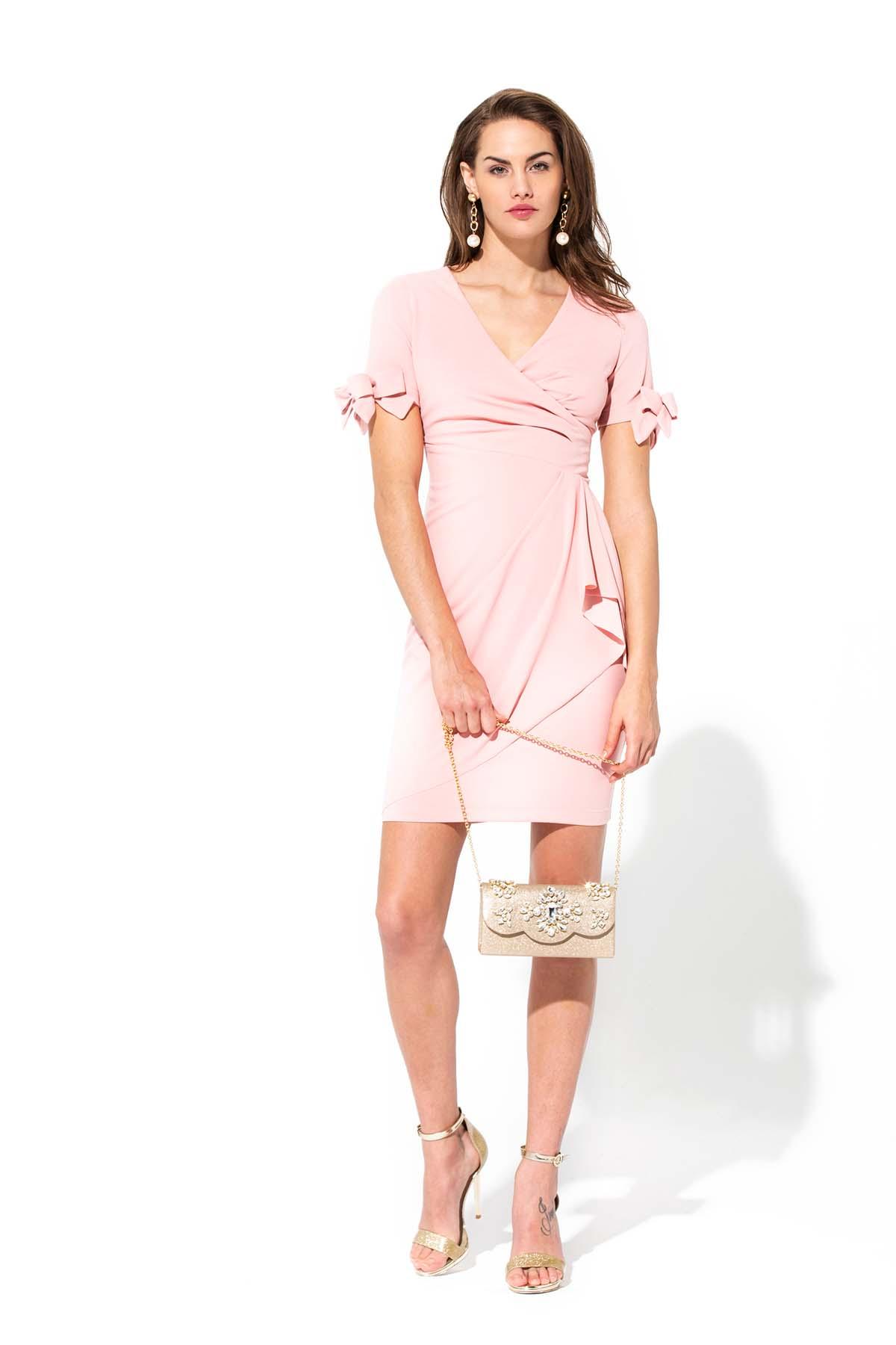 Vestido mini en rosa