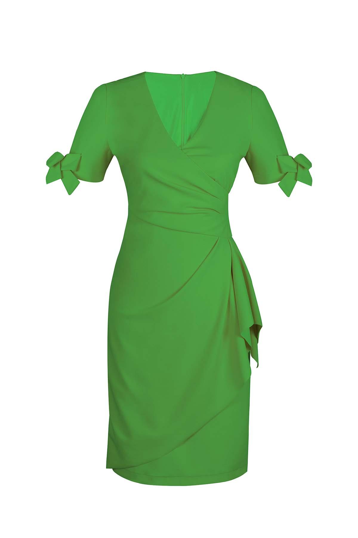 Teria Yabar - Vestido mini verde