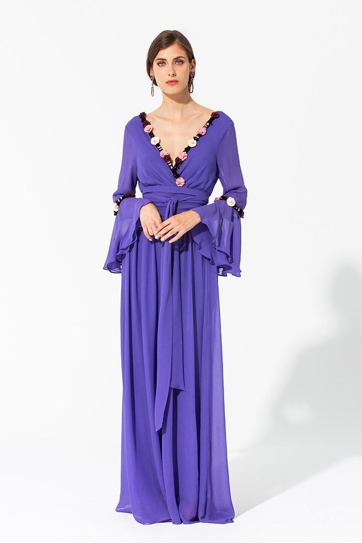 Vestido de gasa violeta