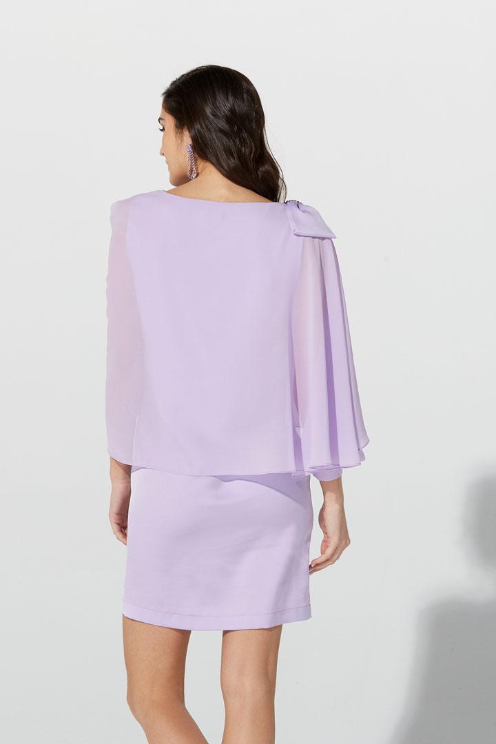 Vestido chal lila