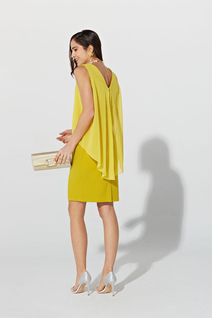 Vestido amarillo sin mangas