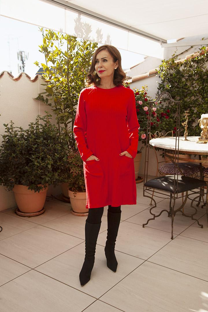 Vestido de Punto Rojo Teria Yabar